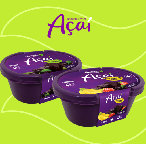 Sorvete sabor Açaí